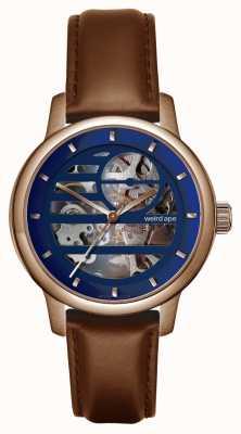 Weird Ape Rosalind bleu rose or / bracelet en cuir de chêne WA02-005811