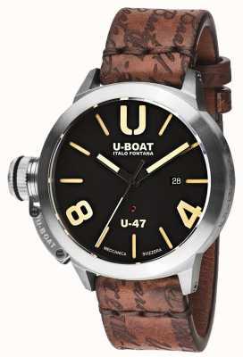 U-Boat Bracelet automatique en caoutchouc noir Classico 47 as1 8105