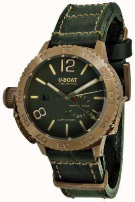 U-Boat Doppiotempo 46 bronzo gr bracelet en cuir vert automatique 9088
