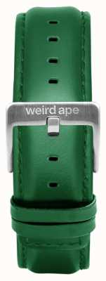 Weird Ape Bracelet en cuir émeraude 20mm boucle argentée ST01-000110