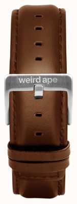 Weird Ape Bracelet en cuir de chêne, boucle de 20 mm, boucle argentée ST01-000099