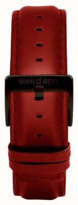 Weird Ape Bracelet en cuir rouge 20mm boucle noire ST01-000077