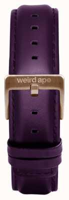 Weird Ape Bracelet en cuir aubergine 16mm boucle chocolat ST01-000068