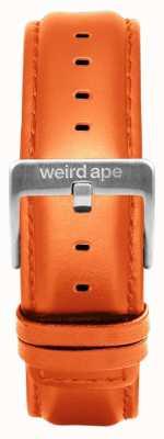 Weird Ape Bracelet en cuir orange 20mm boucle argentée ST01-000111