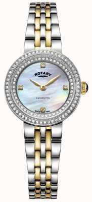 Rotary Dames kensington   bracelet en acier inoxydable deux tons   LB05371/41