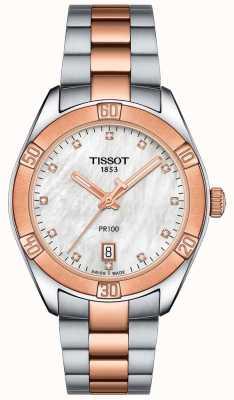 Tissot Montre femme pr100 sport chic deux tons T1019102211600