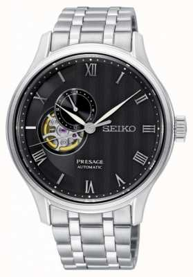 Seiko Bracelet en acier inoxydable pour cadran noir SSA377J1