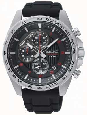 Seiko Montre homme chronographe en caoutchouc noir chronographe SSB325P1