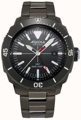 Alpina Montre Seastrong Diver pour homme avec revêtement en titane noir AL-247LGG4TV6B