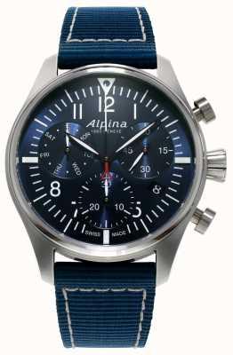 Alpina Homme chronographe pilote chronographe quartz bleu AL-371NN4S6