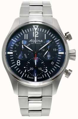 Alpina Homme chronographe pilote chronographe quartz inox AL-371NN4S6B
