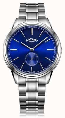 Rotary Montre homme en acier inoxydable avec bracelet compensé GB05360/05