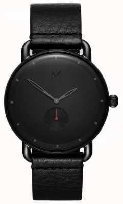 MVMT Bassin de revolver | bracelet en cuir noir | cadran noir D-MR01-BBL