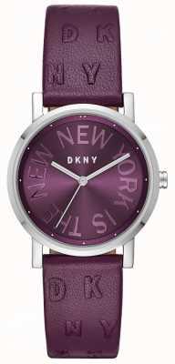 DKNY Womens soho violet cuir cadran violet montre NY2762