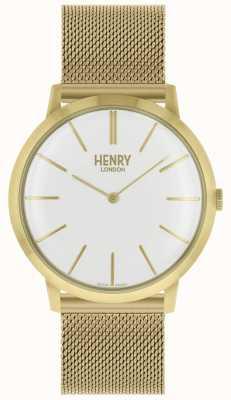 Henry London Bracelet maille emblématique en or blanc HL40-M-0250