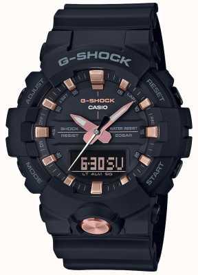 Casio G-shock analogique numérique multifonction noir mat or rose GA-810B-1A4ER