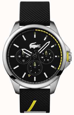 Lacoste Bracelet en silicone noir pour homme 2010978