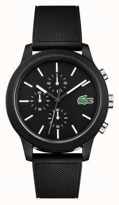 Lacoste 12.12 bracelet chronographe en silicone noir 2010972