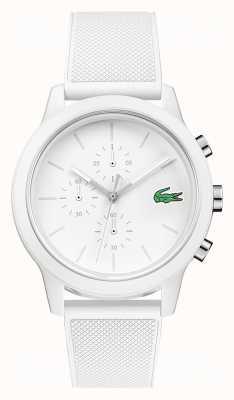 Lacoste 12.12 bracelet silicone chronographe blanc 2010974