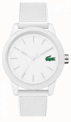 Lacoste 12.12 montre en caoutchouc blanc 2010984