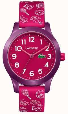 Lacoste 12.12 enfants rose bracelet cadran rose 2030012