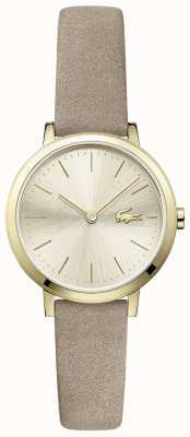 Lacoste Bracelet petit bracelet en cuir plaqué or 2001049