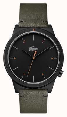 Lacoste Cadran noir en cuir Motion moon gris 2010991