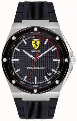 Scuderia Ferrari Mens aspire noir affichage de date de bracelet en caoutchouc 0830529