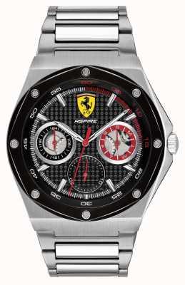 Scuderia Ferrari Les hommes aspirent un cadran noir en acier inoxydable 0830535