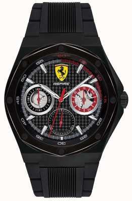 Scuderia Ferrari Bracelet en caoutchouc noir avec bracelet en caoutchouc noir pour homme 0830538