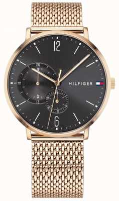 Tommy Hilfiger Brooklyn | maille en or rose | cadran noir 1791506