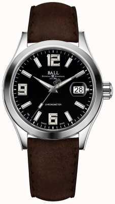 Ball Watch Company Bracelet en cuir marron cadran noir NM2026C-L4CAJ-BK