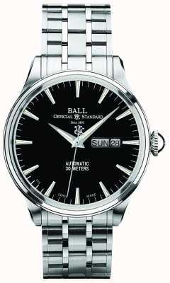 Ball Watch Company Trainmaster eternity cadran noir affichage automatique du jour et de la date NM2080D-SJ-BK