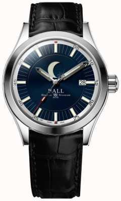 Ball Watch Company Ingénieur ii date de la phase de lune affichage cadran bleu NM2282C-LLJ-BE