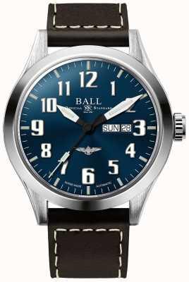 Ball Watch Company Ingénieur iii argent étoile cadran bleu jour et date affichage NM2180C-L2J-BE