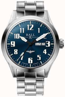 Ball Watch Company Ingénieur iii argent étoile cadran bleu jour et date affichage NM2180C-S2J-BE