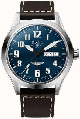 Ball Watch Company Cadran en cuir marron étoile étoile argent 3 NM2182C-L3J-BE