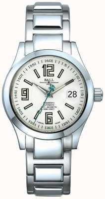 Ball Watch Company Ingénieur ii affichage de date automatique cadran blanc anti-magnétique NM1020C-S4-WH