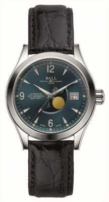 Ball Watch Company Bracelet en cuir avec affichage automatique de la date de la lune de l'Ohio NM2082C-LJ-BE