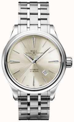 Ball Watch Company Trainmaster legend cadran crème automatique en acier inoxydable date NM3080D-SJ-SL