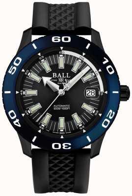 Ball Watch Company Affichage automatique de la date de lunette bleue Fireman DM3090A-P5J-BK