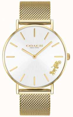 Coach Montre-bracelet pour femme en maille d'or perry 14503125