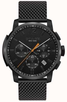 Coach Montre chronographe multifonction bleecker pour homme | bracelet en maille noire 14602344