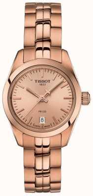Tissot Mesdames pr100 bracelet en or rose montre de cadran en nacre T1010103345100