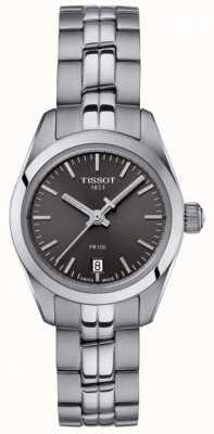 Tissot Montre femme en acier inoxydable pr100 avec cadran noir T1010101106100