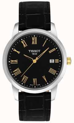 Tissot Chiffres romains cadran noir en cuir noir dream classic classic homme T0334102605301