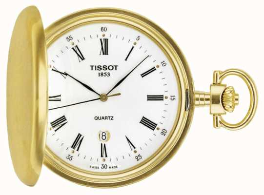 Tissot Montre de poche en savonette plaquée or T83455313