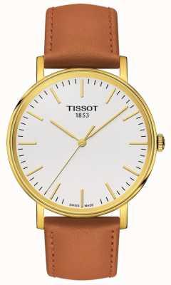 Tissot Bracelet femme en cuir plaqué or bella ora pour femme T1094103603100