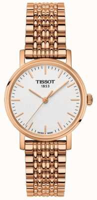 Tissot Cadran gris plaqué or rose pour femme T1092103303100