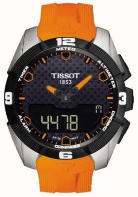 Tissot Chronographe d'alarme solaire titane Expert t-touch pour homme T0914204705101